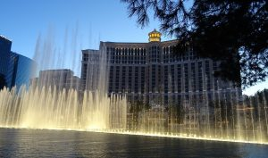 One of the Best free things to do while in Vegas, see the Bellagio fountains