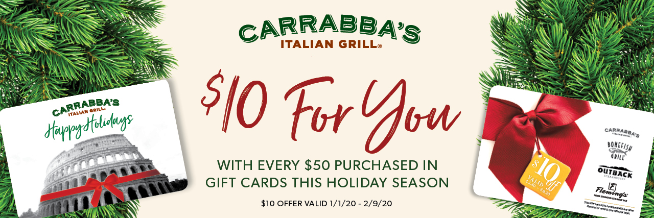Carrabba's Italian Grill Holiday Gift Card Deal