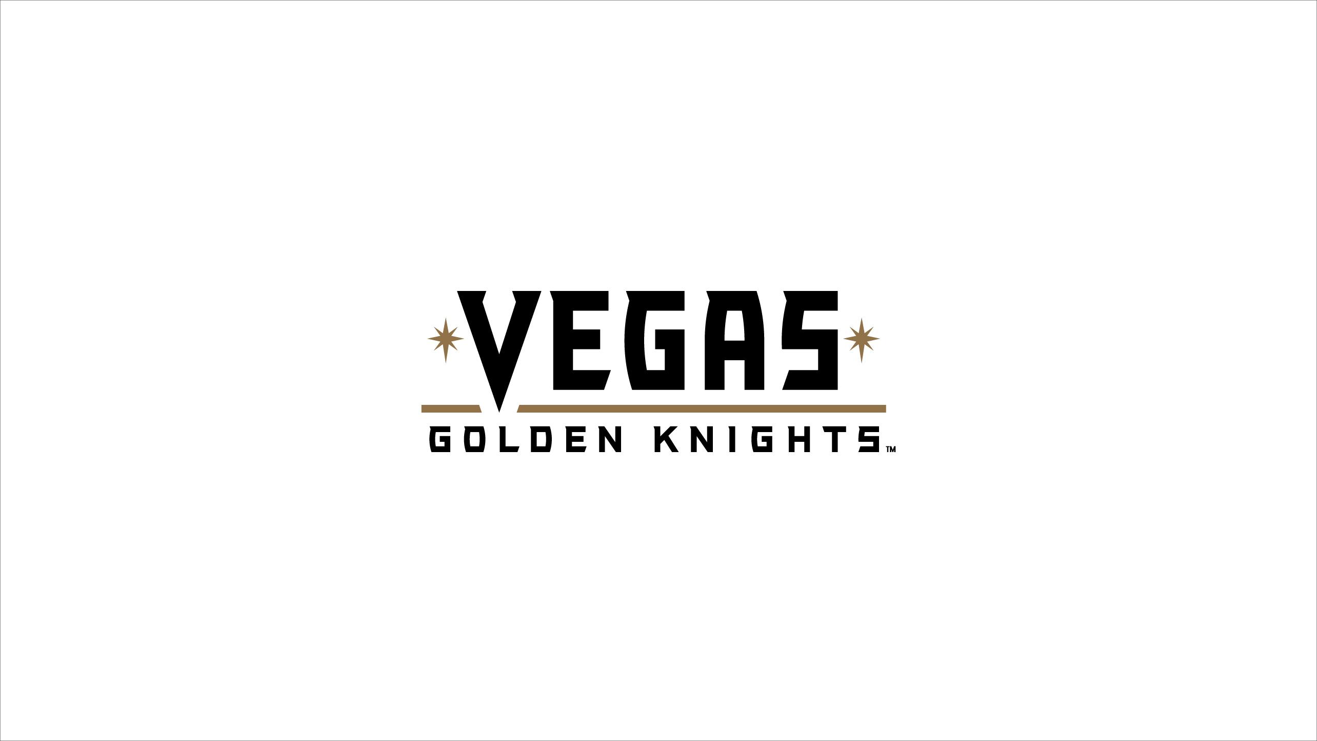 vegas golden knights written logo- playoffs