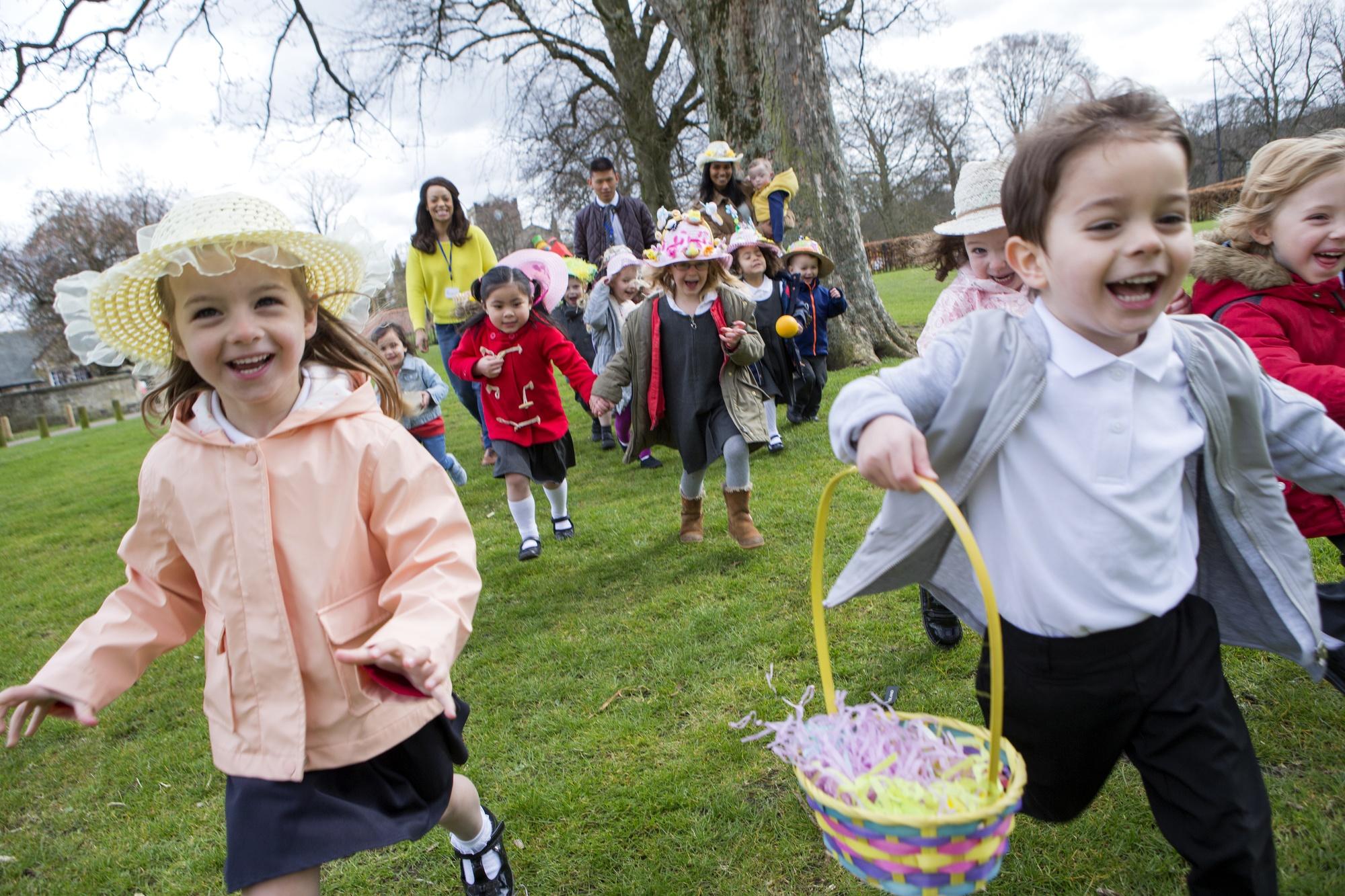 Easter events kids on Easter egg hunt