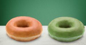 krispy kreme o'riginal green glazed doughnuts