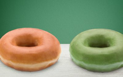Krispy Kreme O'riginal green doughnuts are back