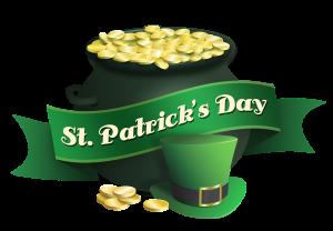 St. Patrick's Day las vegas pot of gold and leprechaun hat