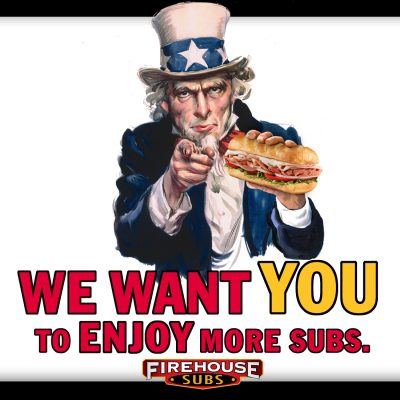 Free Firehouse Sub for Tax Day