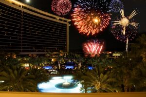 fourth of july fireworks over red rock casino
