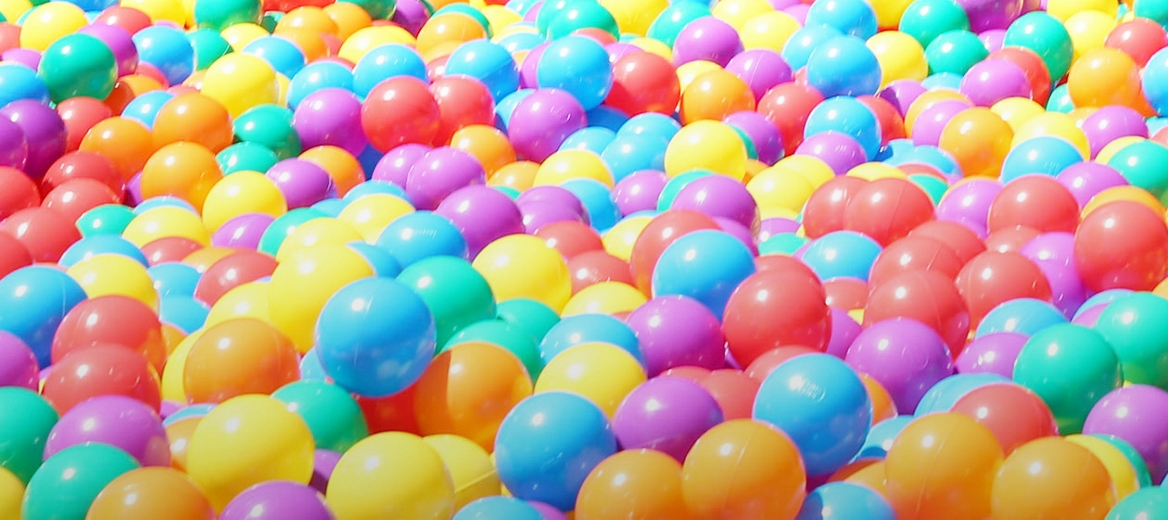 Kids colorful ball pit for indoor winter fun