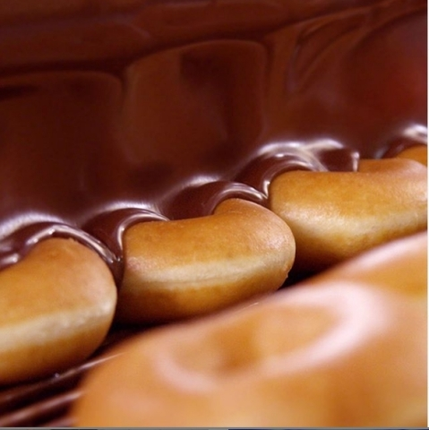 Krispy Kreme chocolate glazed friday doughnuts