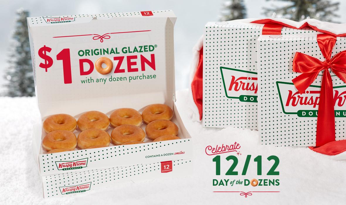 $1 dozen doughnuts deals at Krispy Kreme