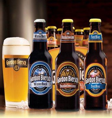 Gordon Biersch brewed beer draft and bottles