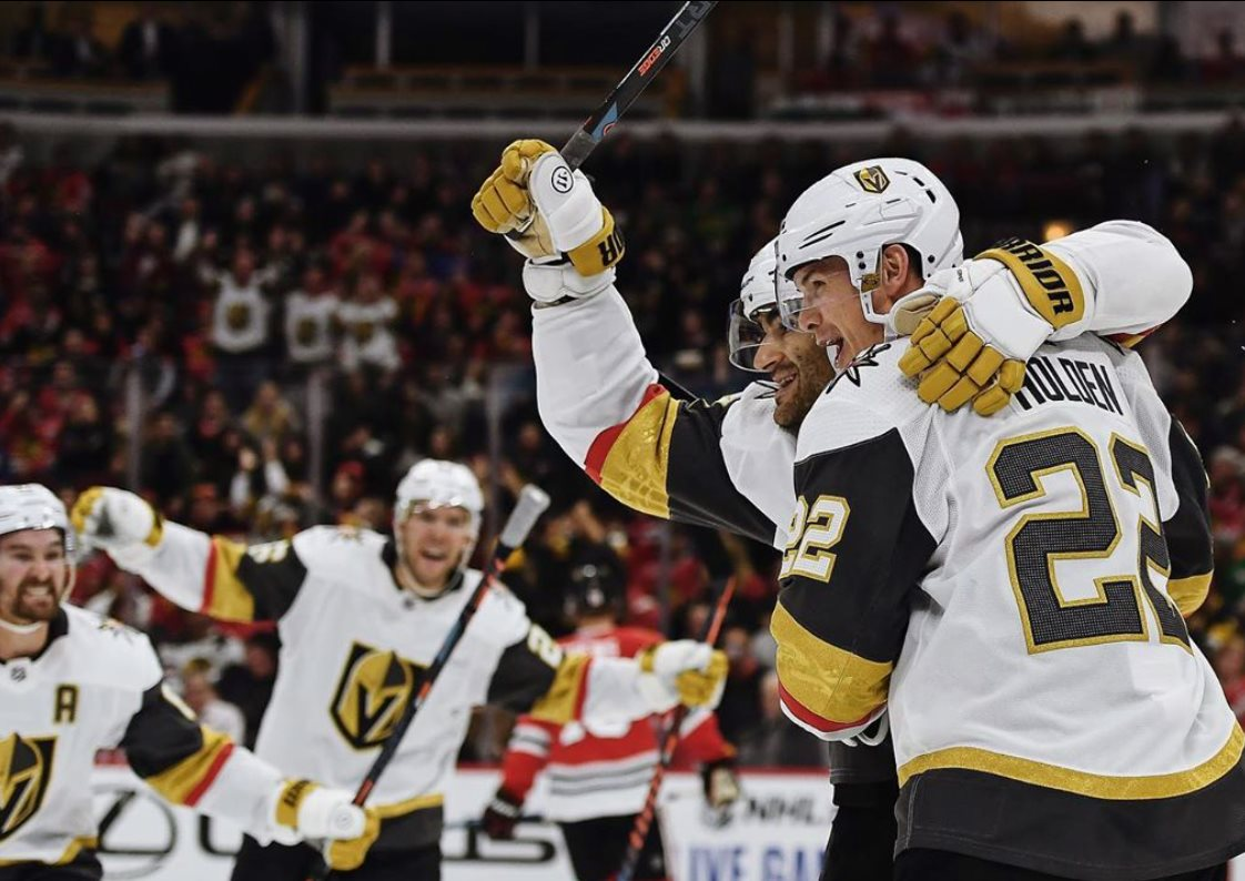 Vegas Golden Knights celebrating return to play and stanley cup