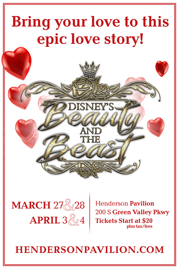 Beauty and the beast poster for henderson pavilion