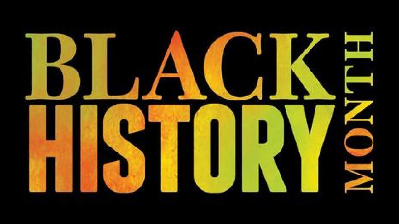 Black History Month festival sign springs preserve