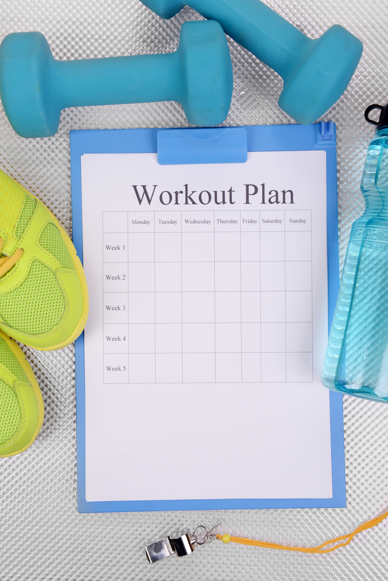 at home workout plan with equipment and workout log