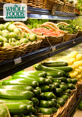 whole foods grocery shopping vegetables and produce