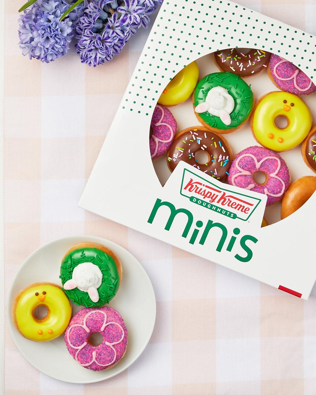 spring doughnut minis from Krispy Kreme