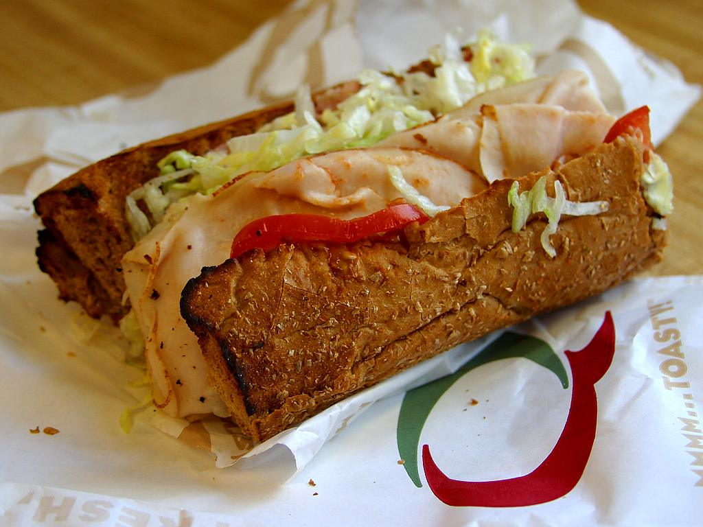 Quizno's deal $5 of $15 order toasty sub
