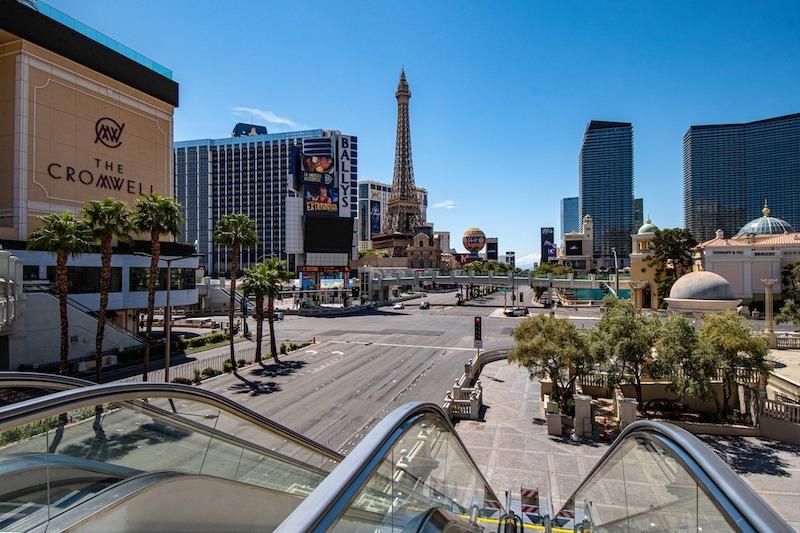 Vegas strip empty nevada's reopening 2021