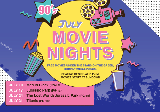 free outdoor movies at the District at GVR