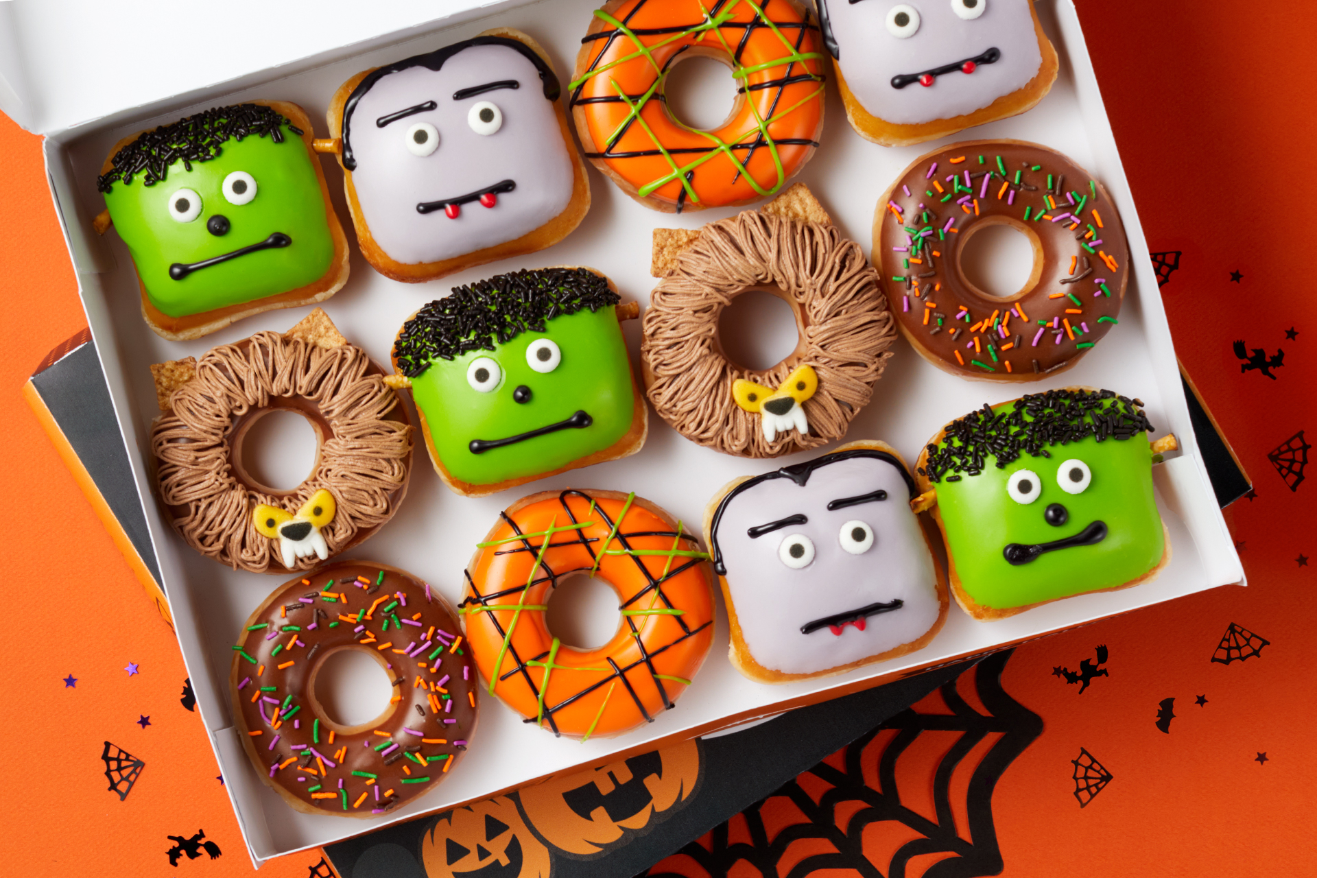 Krispy Kreme Halloween themed monster donuts