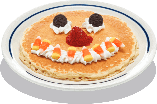 IHOP scary face pancakes for October
