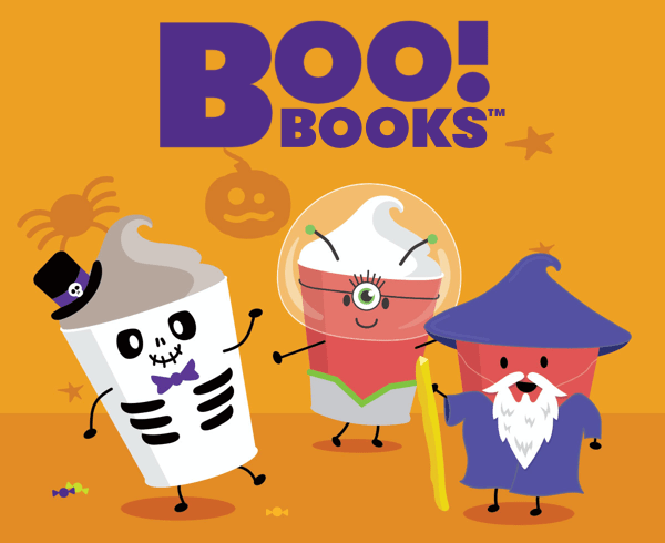 Wendy's boo books, halloween frosty coupon books