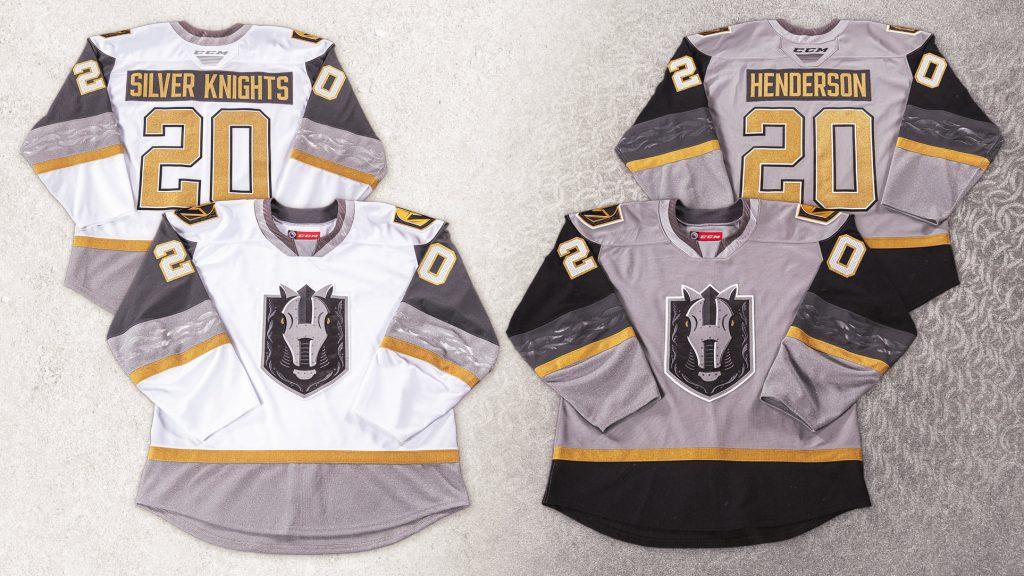 Henderson Silver Knights jerseys inaugural season