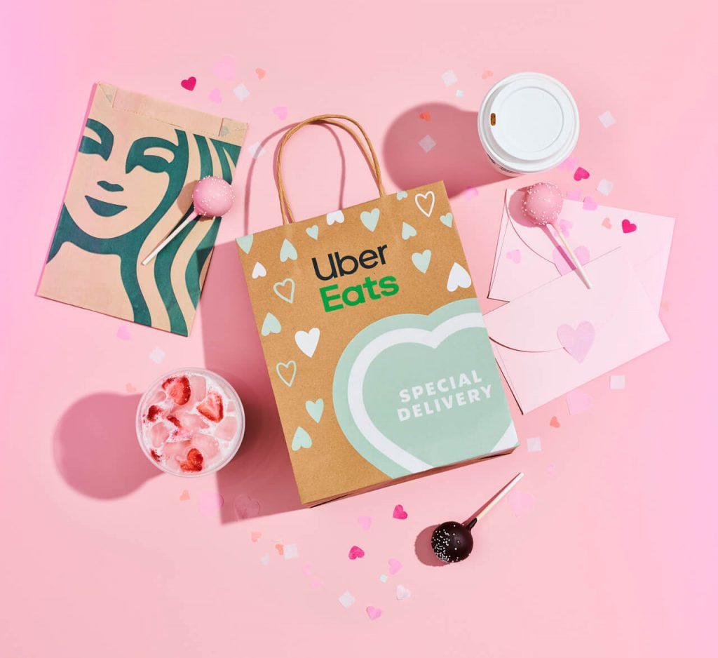 valentine's day deals starbucks and uber eats