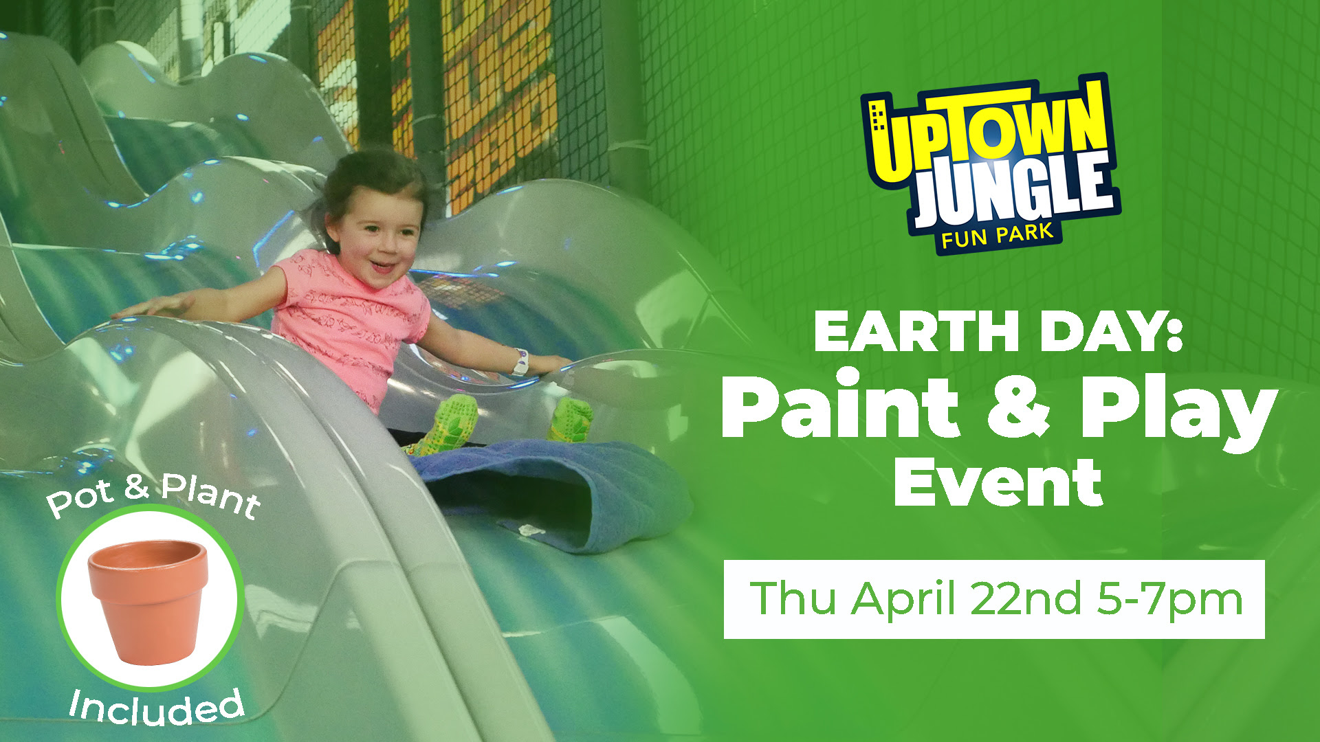 Uptown Jungle events Earth Day paint and play