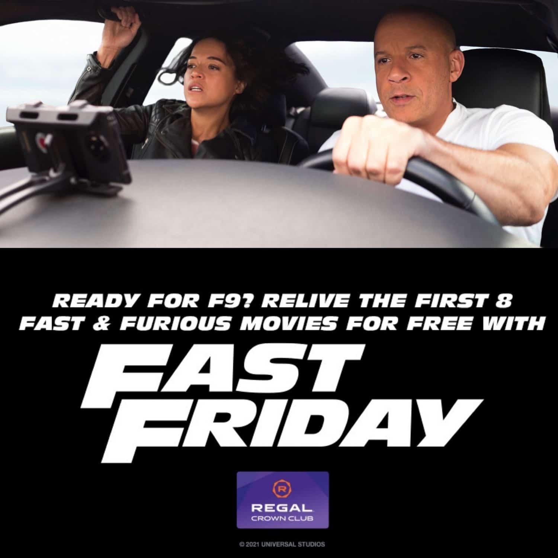 fast & furious movies are free at regal cinemas
