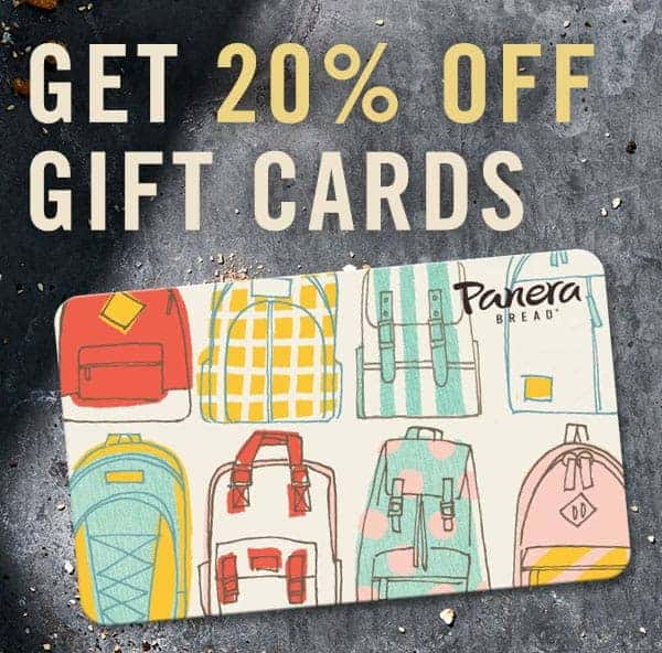 discount gift cards at Panera Bread